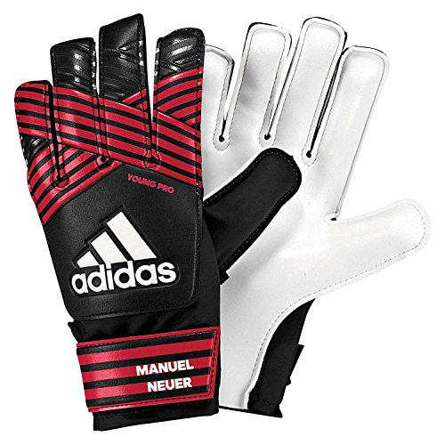 adidas Kinder ACE Young Pro Manuel Neuer Torwarthandschuhe, Black/FCB True red/White, 6