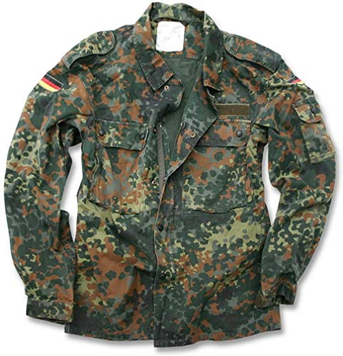 Mil-Tec German Flecktarn Camouflage Pattern Fatigue Field Shirt (44 inch - Short (GR5))