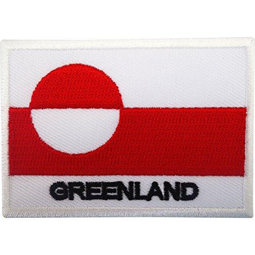 Grönland Flagge Patch Eisen auf Sew auf WAPPEN gestickt-Stickerei Motiv