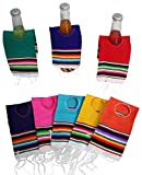 """Pack of 5 assorted color ponchos. You will receive 5 assorted color separate ponchos. Reinforced stitched hole in center. Great for beer, sode, or water bottles or even hot sauce 12"""" long by 3.5"""" wide; 100% fine woven acrylic fabric. Hand wash separa..."""