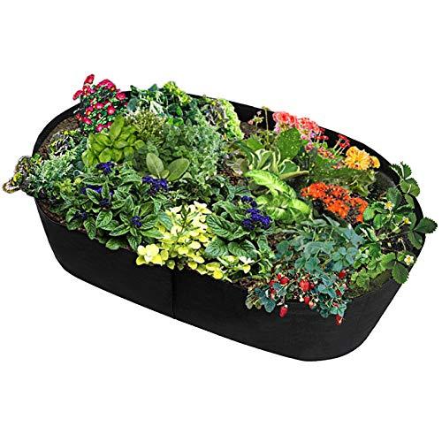 Rechteckige Wachstumstasche, Vliesstoff, Hochbeet, Gemüse-Pflanztopf für Outdoor-Gemüse, Blumen