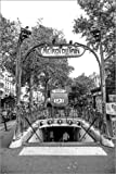 Posterlounge Cuadro de metacrilato 60 x 90 cm: Blanche Metro Station at Moulin Rouge de Editors Choice