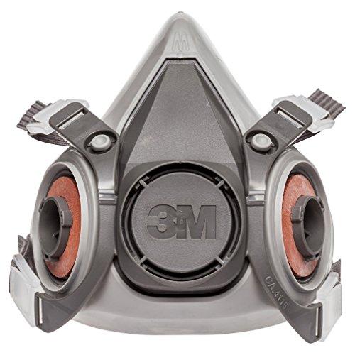 3M 3M-6200 Half Facepiece Reusable Respirator, Without Cartridges(Medium)