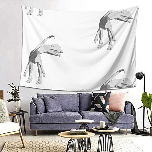 Allures Tapiz para colgar en la pared, diseño de dilophosaurio L por Animotaxis 152,4 x 203 cm, decoración del hogar, tapices para dormitorio, sala de estar, dormitorio y apartamento