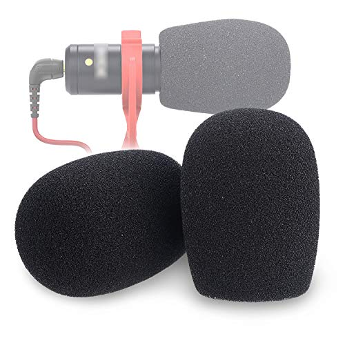 YOUSHARES VideoMicro Windscreen Foam Filter - Wind Shield Deadcat Fits Rode VideoMic Me Me-L Compact Microphone (2 Pack)