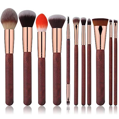 TYJKL Brosse Multifonctions Maquillage Maquillage Cosmétiques Pinceau 11 Pièces Multicolor Pinceau de Maquillage Set Rouge Portable Outils De Maquillage Professionnels