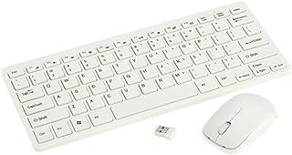 لوحة مفاتيح وماوس لاسلكية محمولة فائقة النحافة 2.4 جيجا مع طبقة واقية للوحة المفاتيح لجهاز Windows 7/8/XP/Vista/Desktop/PC