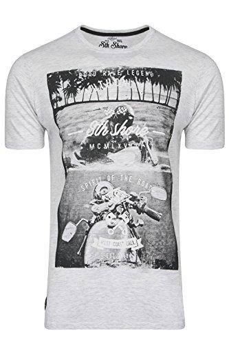 Camiseta para hombre South Shore Manga Corta Cuello Redondo Impresión Moto Bicicleta Verano