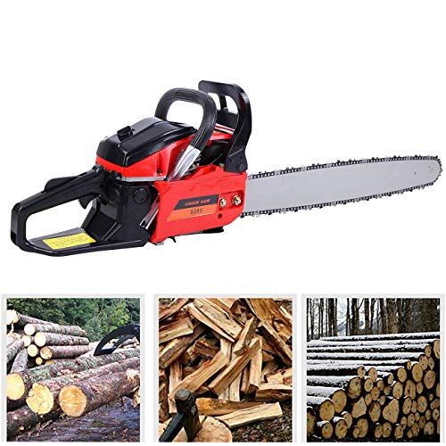 TryE 52cc 22-Inch Chainsaw 2-Stroke Chain Saws for Trees Gas Powered Professional Petrol Chainsaw for Cutting Wood and Tree