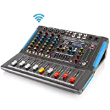 4-Channel Bluetooth Studio Audio Mixer - DJ Sound Controller Interface with USB Drive for PC...