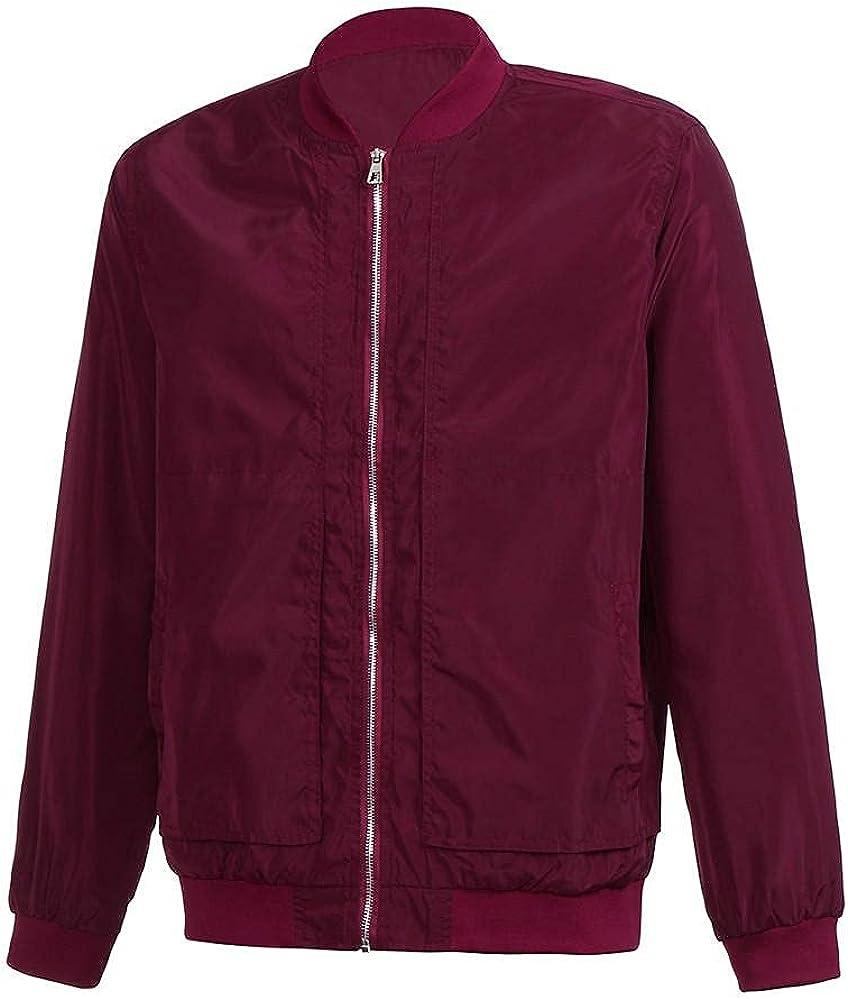 Beshion Men Jacket Overcoat Slim Fit Lightweigh Long Sleeve Winter Warm Outwear Flight Bomber Coats Zipper Tops Blouse