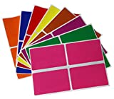 Royal Green Color Coding Labels in 8 Different Colors - Rectangular Label Stickers for Name Tags 3x2 inches -128 Pack