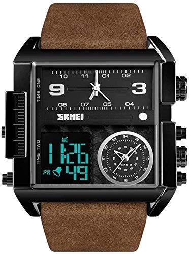 JSL Hombres s cuadrado gran dial reloj correa dominante reloj de cuarzo hombres de negocios s reloj electrónico-10