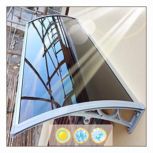 LIANGLIANG Vordach Haustür Überdachung, Lautlose Selbstreinigung Frostschutzmittel Antialterung Anti-UV, Benutzt für Schaufenster Terrasse Schwarzes Brett (Color : Brown, Size : 80x80cm)