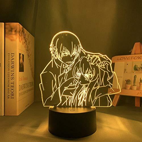 DAJIE Anime Led Light Toradora TIGER X DRAGON for Children's Room Decor Night Light Kid Bithday Gift Manga Toradora 3d Lamp Bedroom