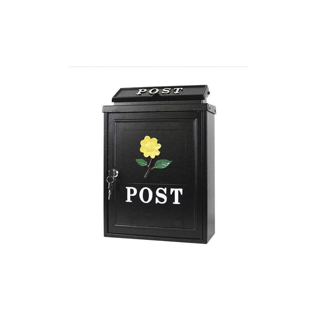 アドバンテージ増加する衣装ヨーロッパスタイルのメールボックス屋外雨水別荘壁掛けメールボックス牧歌クリエイティブメールボックス、ひまわりパターン 屋外セキュリティメールボックス