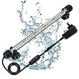 JOYHILL Luce per acquario a LED Luce per acquario sommergibile impermeabile con timer Barra luminosa a LED con 3 modalità di illuminazione Dimmerabile di luce bianca e blu per acquario(30CM )