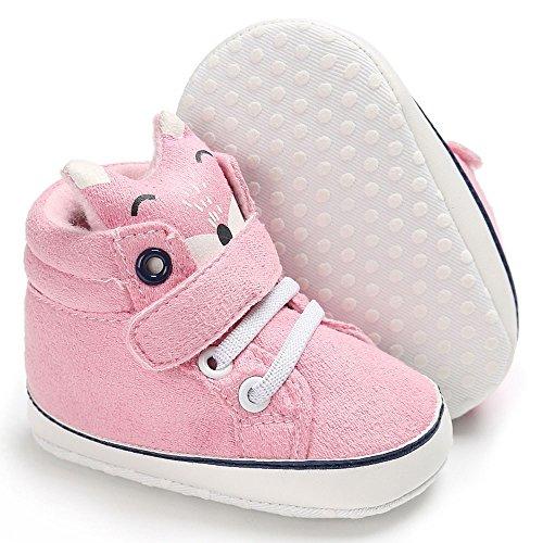 Nyuiuo Moda bebé niña niños impresión Zapatos de Corte Alto Zapatilla de Deporte Antideslizante Suela Suave niño al Aire Libre Zapatos Casuales Zapatos Transpirables