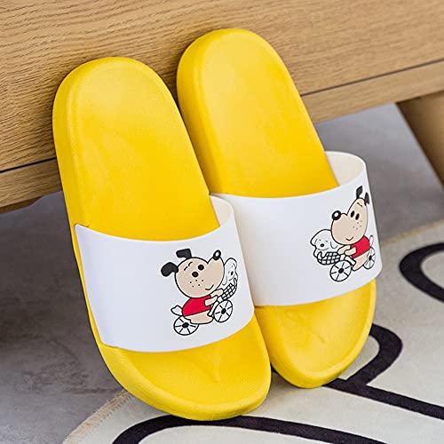 Zapatillas Niños Chicas Lindas Dibujos Animados Perro Playa, niños Sandalias de Diapositivas de Verano baño baños Zapatos de Ducha Antideslizante Suave Flip Chanclas Hombres Mujeres
