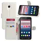 HualuBro Alcatel OneTouch Pop Star Hülle, Premium PU Leder