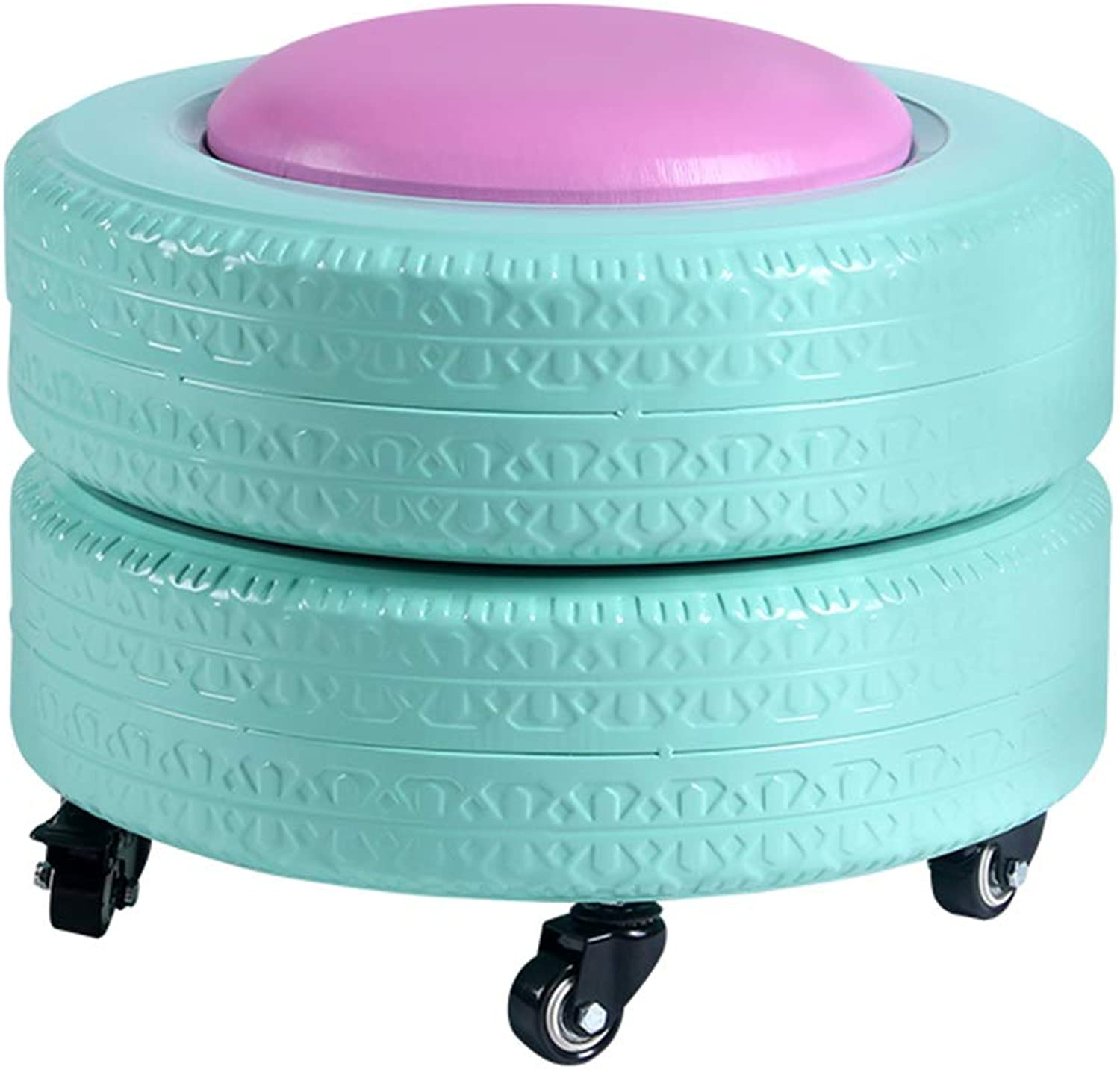 Storage Stool shoes Bench color Tire Creative Stool (color   Green)