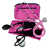 Dixie EMS Blood Pressure and Sprague Stethoscope Kit - Pink