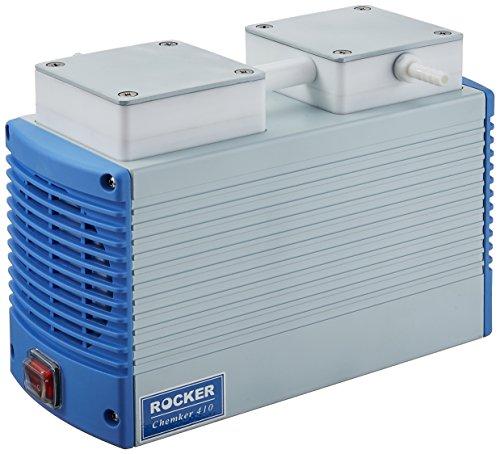 Vakuumpumpe / Laborpumpe Chemker 410: 10mbar (-750mmHg) 18 l/min chemikalienbeständig (PTFE), für (Vakuum-) Filtration, Gelelektrophorese, Festphasenextraktion, Lösungsmittelreinigung
