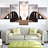 Home Decoration Paint Birdge Wall Art HD Print 5 Pieces Modern Poster Canvas God Christ Cuadros Modular Religion Picture For Gif