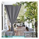 GDMING Cortinas Exterior Porche Impermeable Bloqueo UV Sombras Protección Visual Pantalla para Balcón Puerta Corrediza Ventana Cubierta Toldo Poliéster 32 Tamaños (Color : Gray, Size : 4x2.7m)