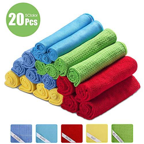 8x Wet Dry Super Absorbent Towel Microfaser Tücher Kitchen Boden Clean Allzweck