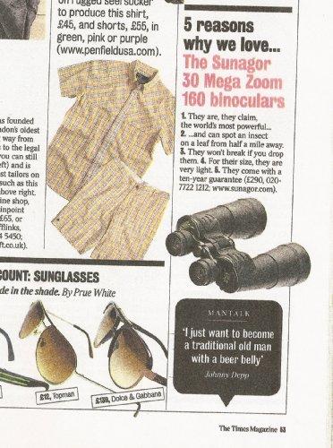 Sunagor 30-160x70 BCF Mega Zoom Binoculars with Case