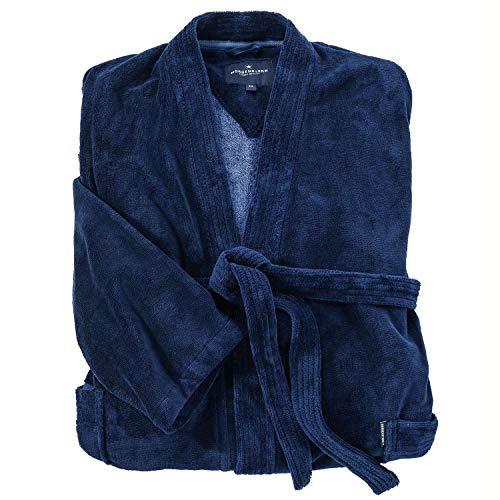 bugatti Homewear Flauschiger Multifaser-Bademantel mit Bambus blau_14 6XL