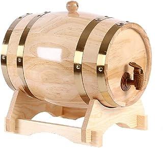 Rhum Récipient 1,5L / 3L / 5L / 10L Barils En Chêne,Tonneau De Vin Vintage Les Barils De Whisky,Peut être Utilisé For La V...