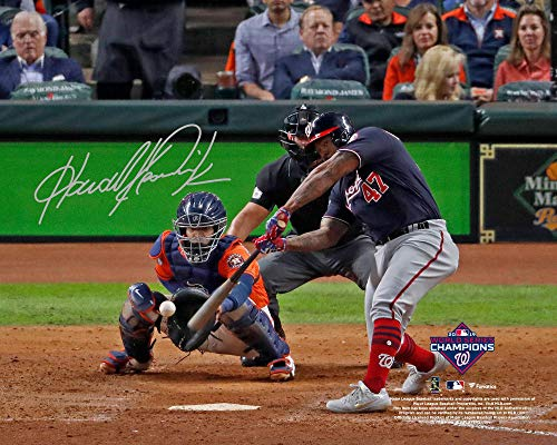 """Howie Kendrick Washington Nationals Autographed 2019 World Series Champions 8"""" x 10"""" Game 7 Winning Home Run Photograph - Fanatics Authentic Certified"""