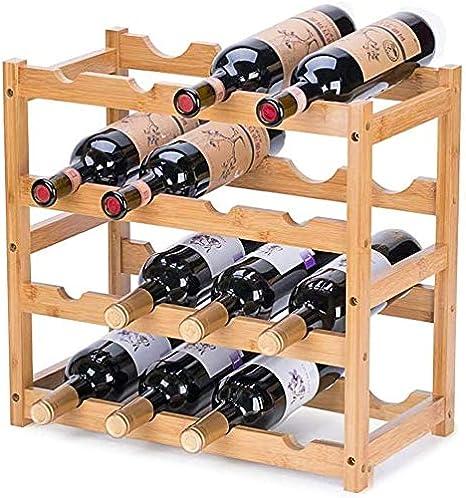 Amazon.com: Riipoo Wine Racks, Wine Shelf Storage, Wine Bottle Holder 4 Tier, Wine Rack Countertop for Kitchen, Dinging Room, Pantry, Cabinet, Bar: Kitchen & Dining