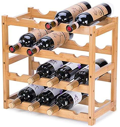 Riipoo Wine Racks Wine Shelf Storage Wine Bottle Holder 4 Tier Wine Rack Countertop for Kitchen Dinging Room Pantry Cabinet Bar