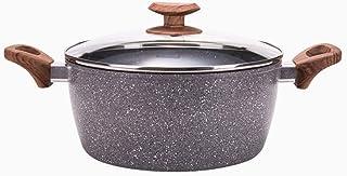 Yyqthg Cacerola, Sopa de Olla Maifan Piedra Pot Binaural Antiadherente Olla Olla de Carne cocida aplicable Gas Cocina de inducción