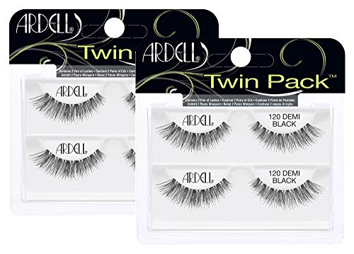 Ardell Twin Pack Lash 120 künstliche Wimpern aus Echthaar, das Original für perfekte Lashes, black (2x)