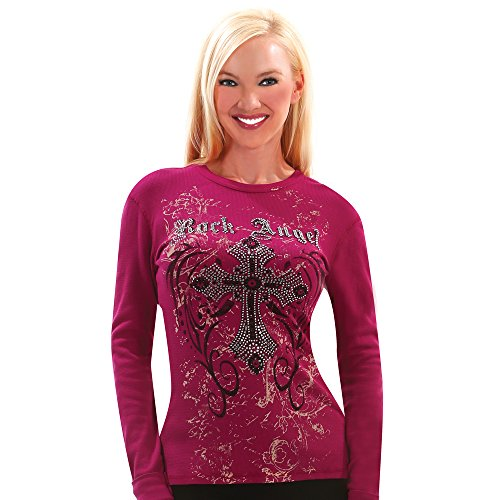 Otomix Women's Rock Angel Magenta Soft Thermal Long Sleeve Tee (Small)