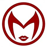"""MARVEY COMICS SCARLET WITCH LOGO VINYL STICKERS SYMBOL 5.5"""" DECORATIVE DIE CUT DECAL FOR CARS TABLETS LAPTOPS SKATEBOARD - DARK RED -  FAVFOUR INC"""