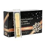 Eastar Cañas para clarinete sib 2,5 tradicionales, Fuerza 2,5, Pack de 10
