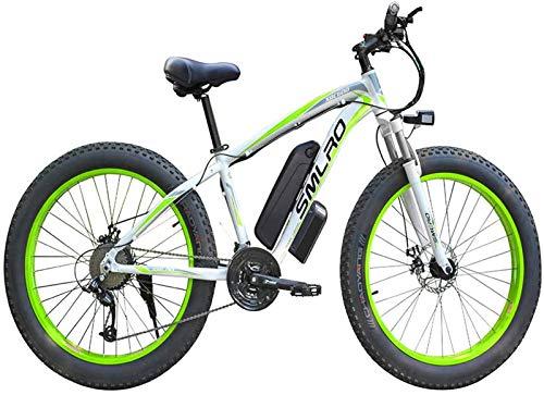 Leifeng Tower Bicicletas eléctricas de alta velocidad de 26 pulgadas, 4.0 bicicletas de neumáticos de grasa 48 V 1000 W frenos de disco mecánicos al aire libre Ciclismo adulto (color: verde)