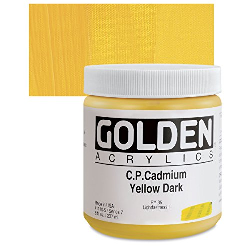 Golden Heavy Body Acrylic - C.P. Cadmium Yellow Dark 8oz jar