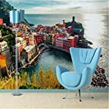 Ponana Tapete Sofa Schlafzimmer Tv Hintergrund Home Dekoratives Gemälde Mediterran Stadt Wasser 3D Fototapete 3D-350X250Cm