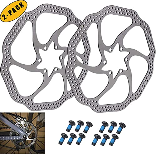 Rotore per freno a disco per bicicletta, rotore per freno a disco per bici in acciaio inossidabile da 160 mm con 12 bulloni, per la maggior parte delle bici da strada per mountain bike BMX MTB