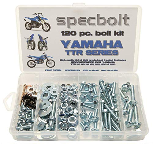Specbolt Fasteners Dirt Bike Bolt Kit: Yamaha TTR 2000 to present - basic pack (SML)