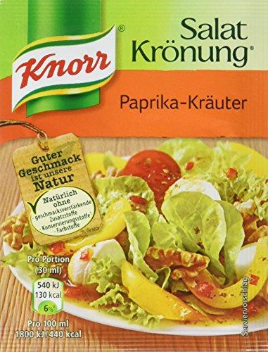 Knorr Salatkrönung Paprika-Kräuter Salatdressing (5 x 5er-Pack)