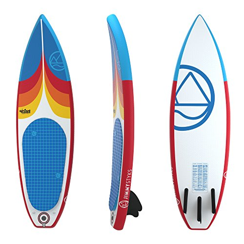 Jimmy Styks AirSurf 6' Short Board | Surfboard | 6' Long, 20' Wide,...