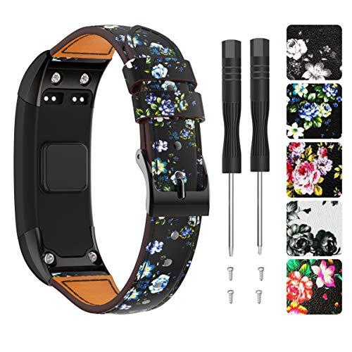 Supore Garmin Vivosmart HR Armband Uhrenarmband, Ersatzarmband, Zubehör Verstellbares Weiches Cortex Band Armbanduhren Entwickelt für Garmin Vivosmart HR Smart Watc