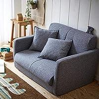 生活雑貨 ソファーベッド ソファー ソファ 脚を伸ばしてゆったり寝れる 3つ折りコンパクト 2P グレー